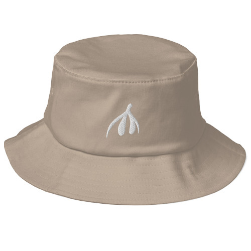 Clit Old School Bucket Hat - white logo