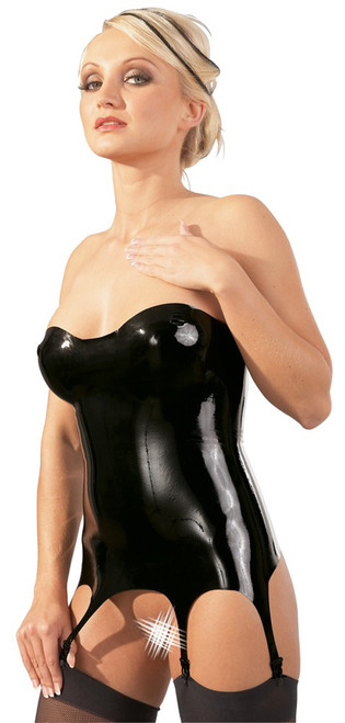 Strapless Latex Garter Top