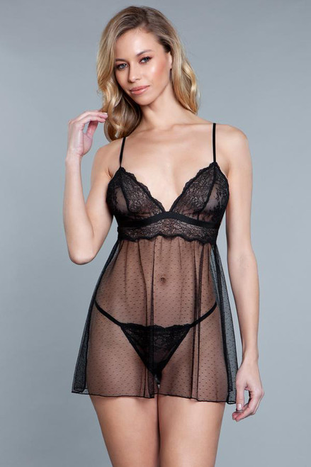 Hailey Babydoll - Black