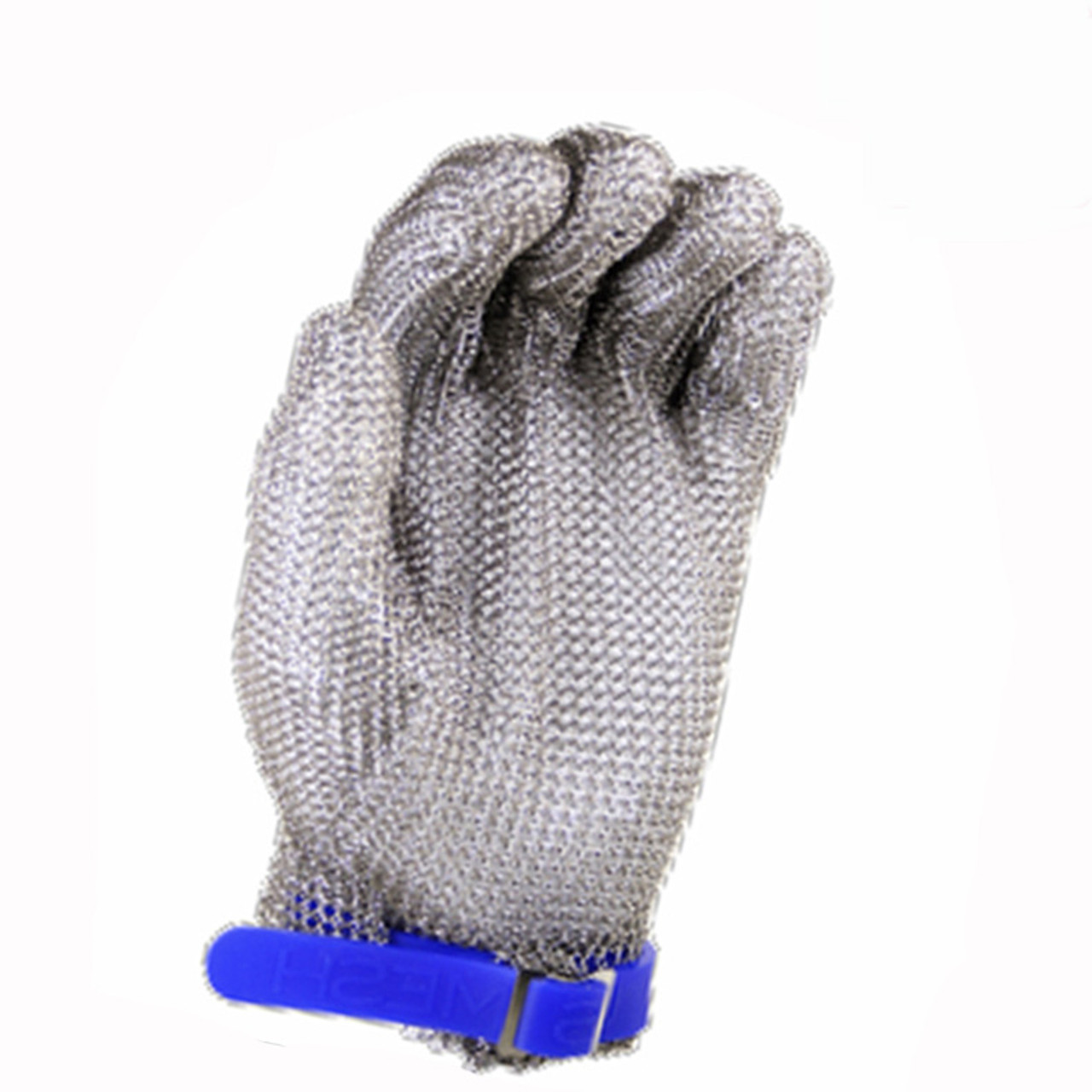 Stainless Steel Mesh Safety Glove with Silicone Strap - US Mesh  -  Free UPS Ground Shipping in Continental USA