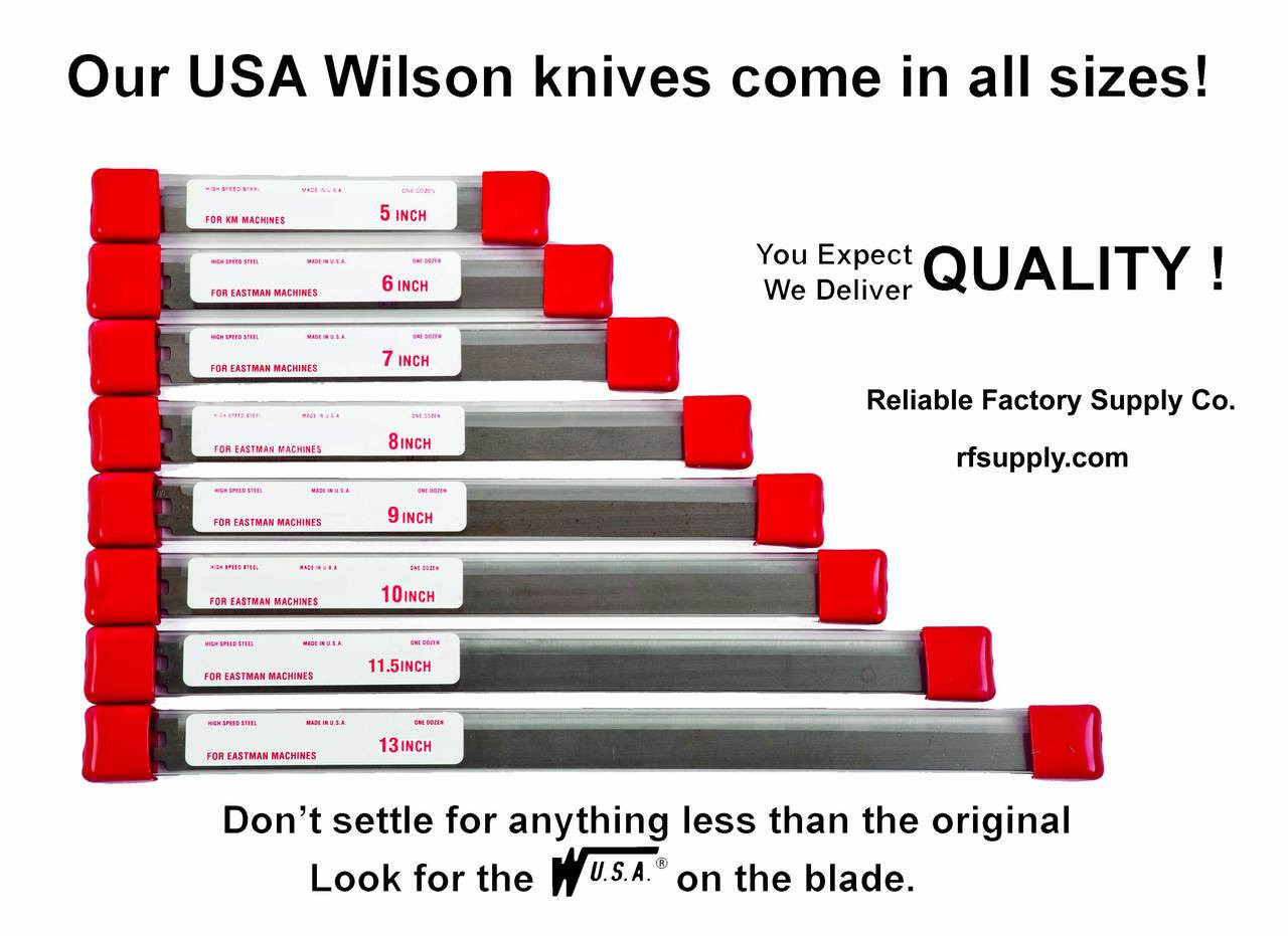 Cutting Machine Knives for Eastman Straight High Speed Steel USA(12/box)
