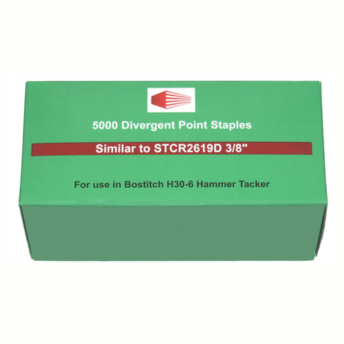 Staples for Bostitch H30-6 Hammer Stapler #STCR2619D3/8
