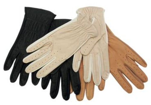 Leather & Spandex Glove Tan
