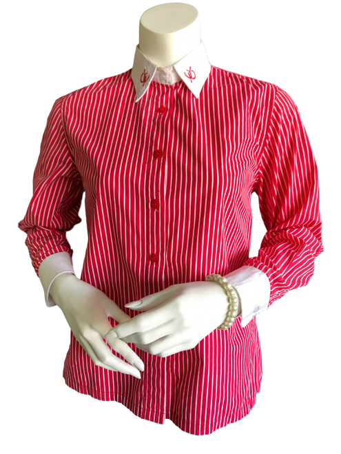 Showstoppers Red & White Ladies Shirt L8 - 2nd Hand