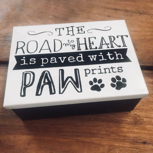 'Paved with Paw Prints' Treat Tin