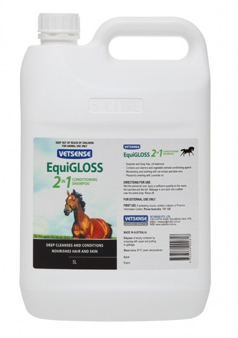 Equigloss 2 in 1 Conditioning Shampoo 5L