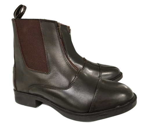 Classic Zip Up Boots Brown