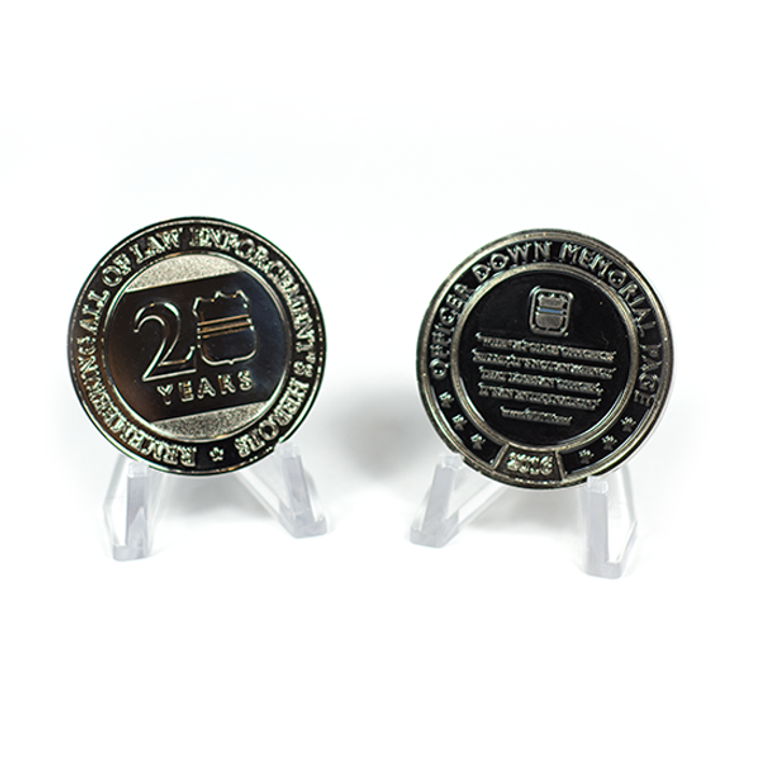 Officer Down Memorial Page 2016 20 Year Anniversary Coin