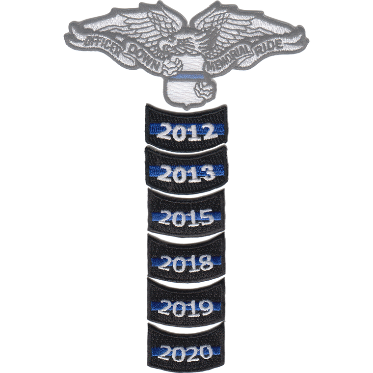 Officer Down Memorial Ride Annual Rocker Patch (2012 - 2020)
