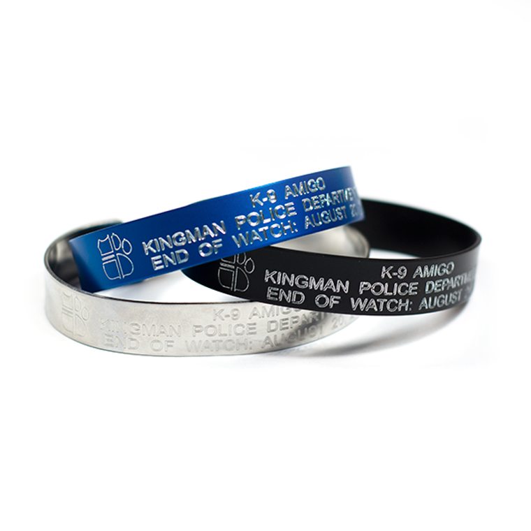 Personalized ODMP Memorial Bracelets Honoring Fallen K9s