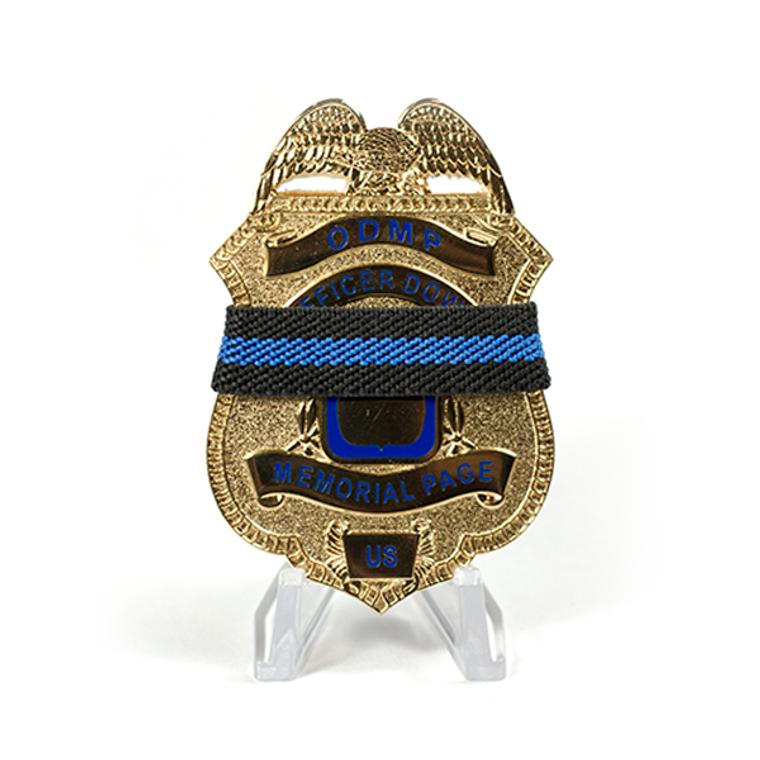 Police Mourning Bands - Blue Line