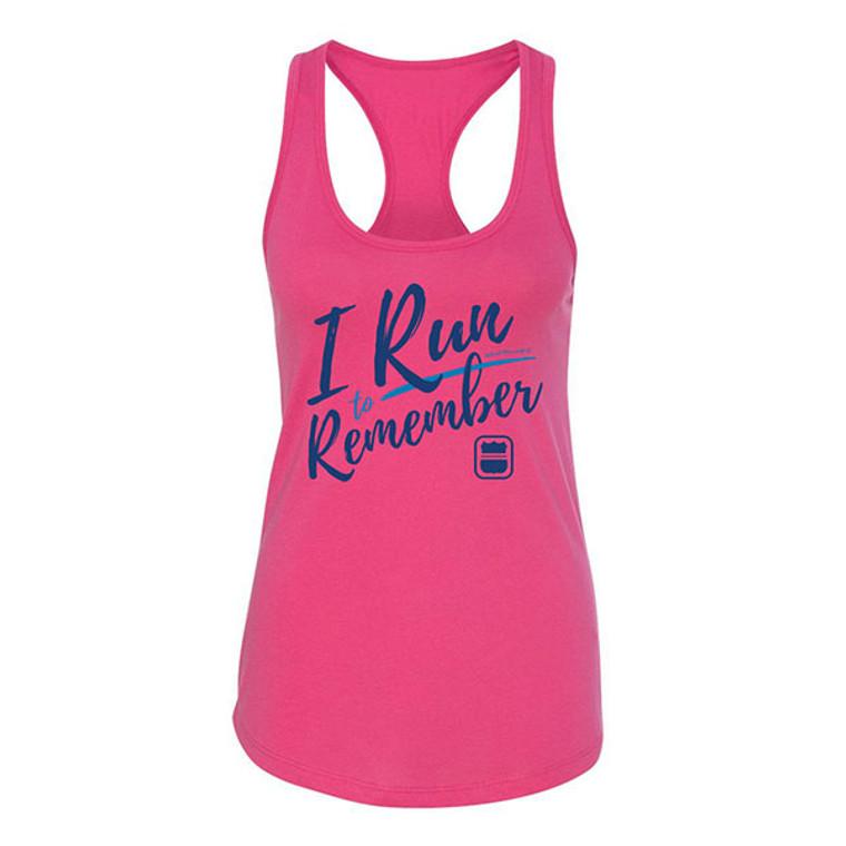 I Run to Remember Women's Racerback Tank - Pink