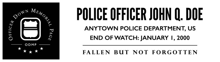 Customize your bumper stickers with the official Officer Down Memorial Page (ODMP) logo.