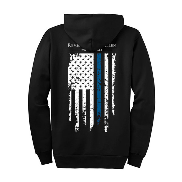 Remember the Fallen Blue Line Zip-Up Hoodie