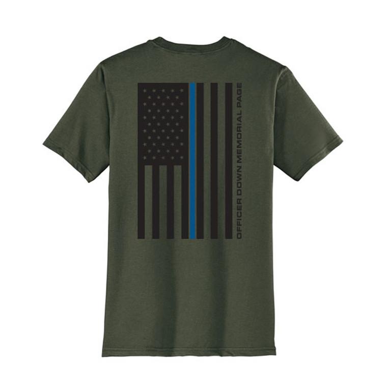 ODMP Ring Spun Cotton Flag T-Shirt - Olive