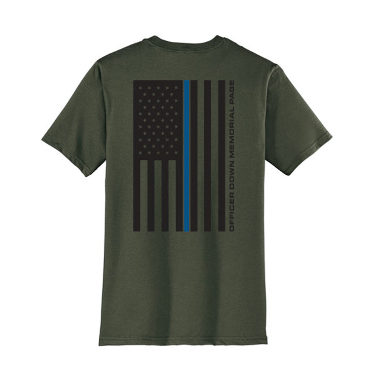ODMP Ring Spun Cotton Flag T-Shirt - Olive