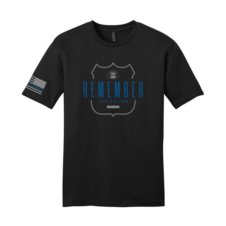 ODMP Ring Spun Cotton Badge T-Shirt - Black