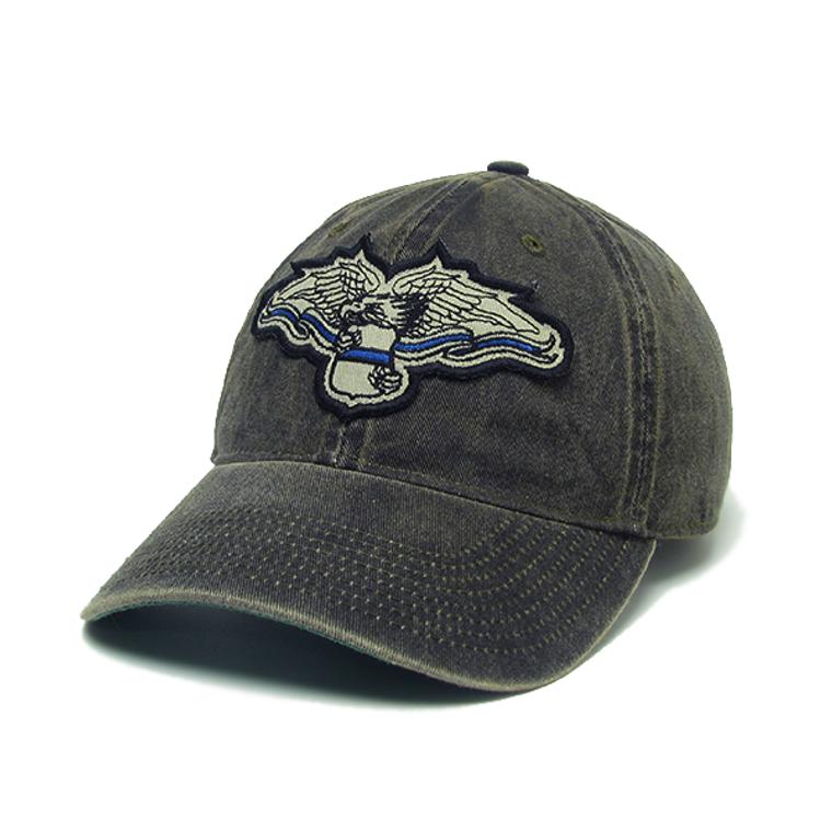 ODMR Blue Line Eagle Hat - Black Solid