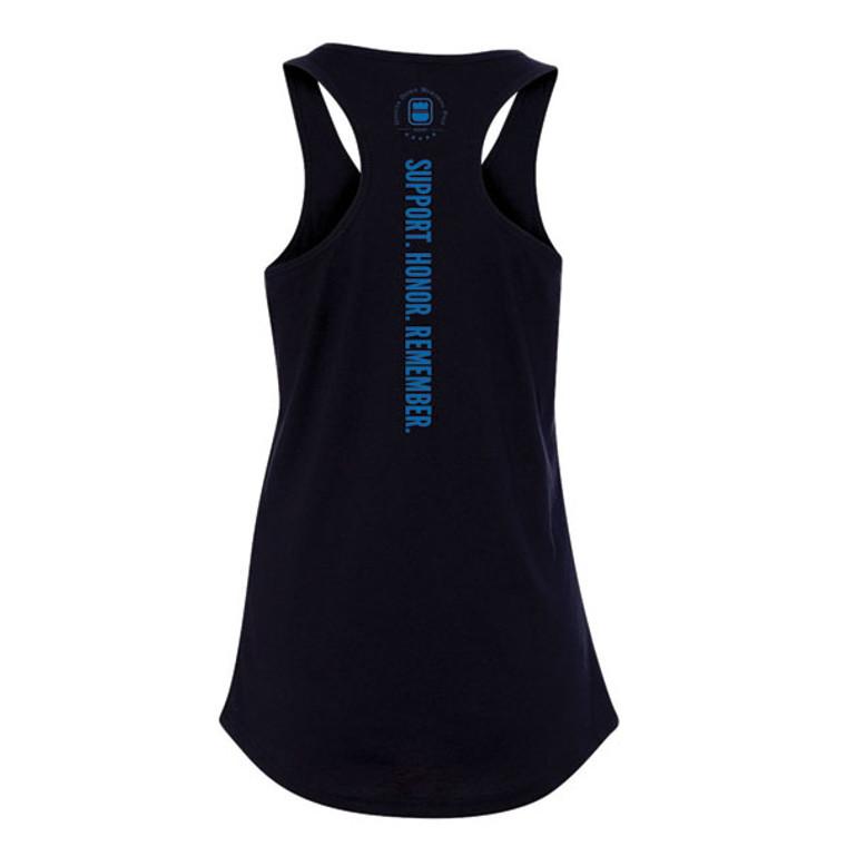 Thin Blue Line Heartbeat Badge Women's Racerback Tank