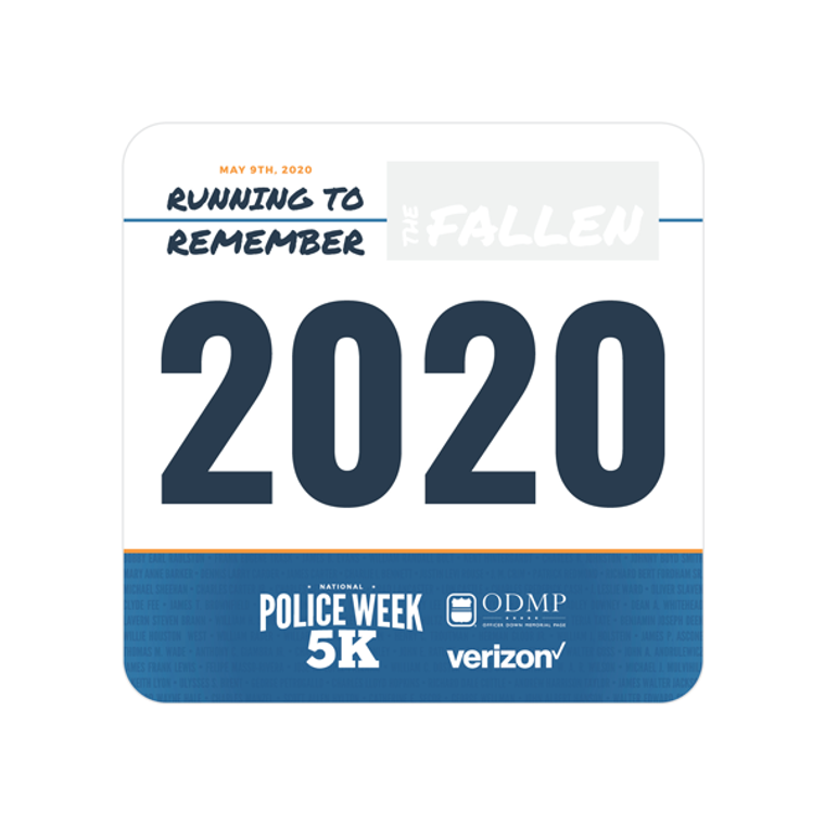 2020 National Police Week 5K - Commemorative Runner's Bib
