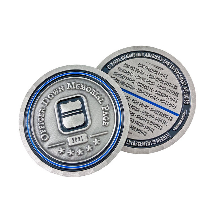 Officer Down Memorial Page 2021 Coin