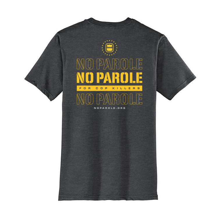 No Parole for Cop Killers T-Shirt - Charcoal