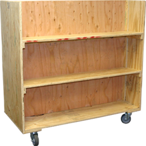 Double Sided Bookshelf Cart
