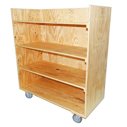 Rental 4 Shelf Straight Cart