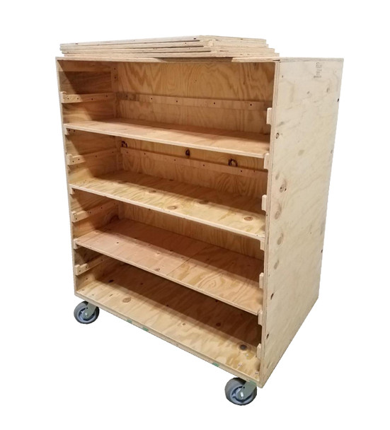 Removable Shelf Double Sided Cart