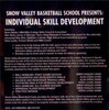 snow valley basketball drills for individual skill development