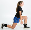 Use the LockDown Defender bands to do lunges.
