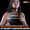 Add range to basketball shot with a weighted basketball