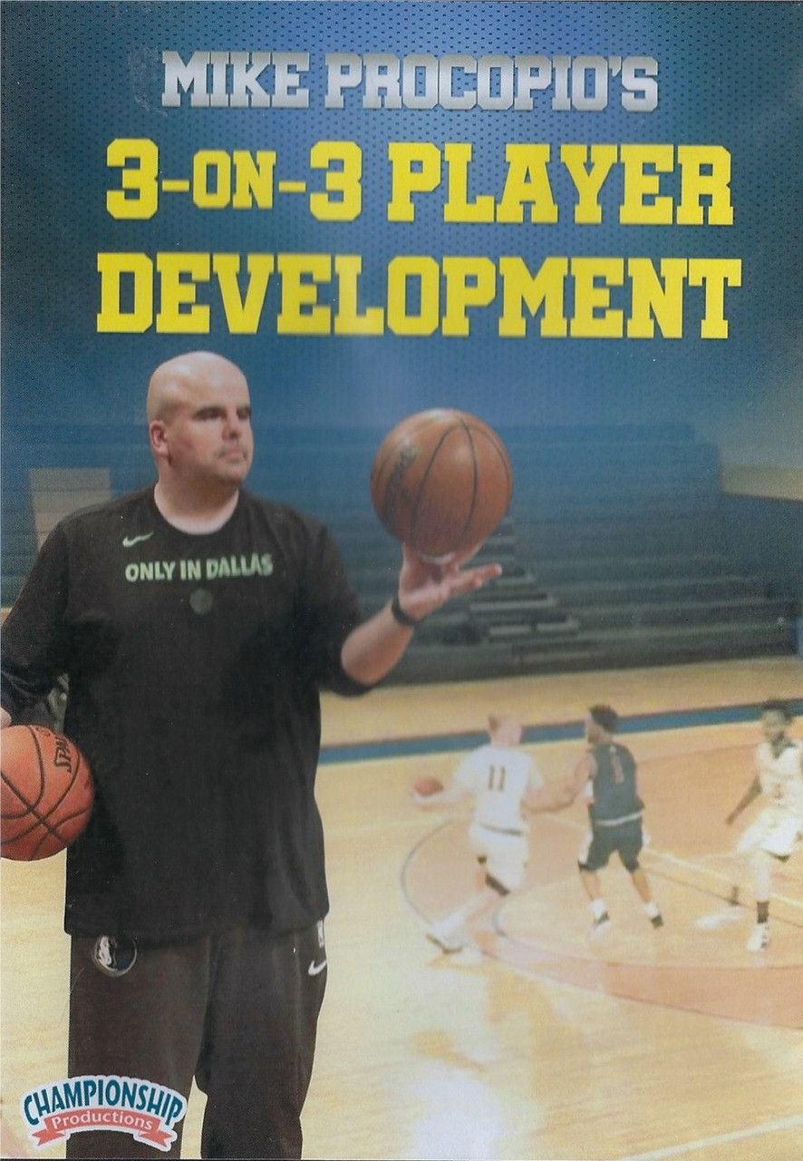 bbecd5d20a5 3 on 3 Basketball Player Development by Mike Procopio Instructional  Basketball Coaching Video