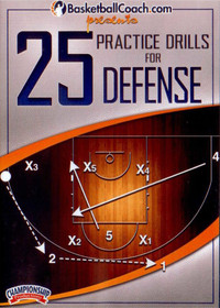 25 Practice Drills For Defense by Jim Calhoun Instructional Basketball Coaching Video