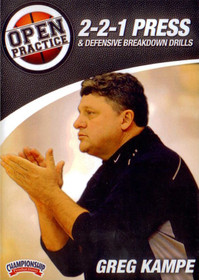 2-2-1 Press & Defensive Breakdown Drills by Greg Kampe Instructional Basketball Coaching Video