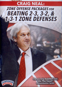 Zone Offense Packages For Multiple Zone Defenses by Craig Neal Instructional Basketball Coaching Video