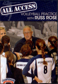 ALL ACCESS VOLLEYBALL PRACTICE WITH RUSS ROSE by Russ Rose Instructional Volleyball Coaching Video