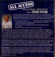 (Rental)-ALL ACCESS VOLLEYBALL PRACTICE WITH RUSS ROSE