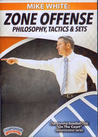 Zone Offense Philosophy, Tactics, & Sets by Mike White Instructional Basketball Coaching Video