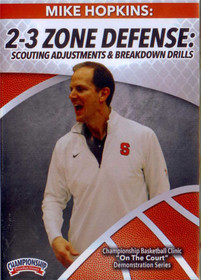 2-3 Zone Defense Scouting Adjustments & Breakdown Drills by Mike Hopkins Instructional Basketball Coaching Video