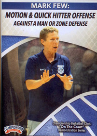 Motion & Quick Hitter Offense Against A Man Or Zone Defense by Mark Few Instructional Basketball Coaching Video