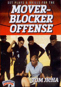 Set Plays & Drills For The Mover Blocker Offense by Tom Jicha Instructional Basketball Coaching Video
