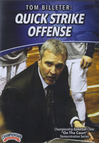 Quick Strike Offense by Tom Billeter Instructional Basketball Coaching Video