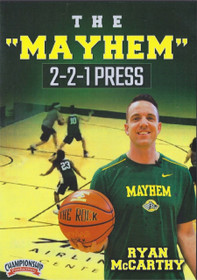 The Mayhem 2-2-1 Press by Ryan McCarthy Instructional Basketball Coaching Video