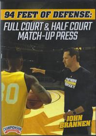 Full Court & Half Court Match Up Press by John Brannen Instructional Basketball Coaching Video