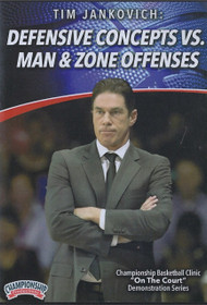 Defensive Concepts Vs. Man & Zone Defenses by Tim Jankovich Instructional Basketball Coaching Video