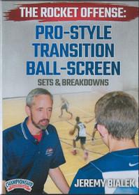 Pro Style Transition Ball Screen Offense by Jeremy Bialek Instructional Basketball Coaching Video