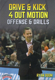 Drive & Kick 4 Out Motion Offense & Drills by Ryan Odom Instructional Basketball Coaching Video