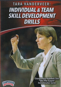 Individual & Team Skill Development Drills for Basketball by Tara VanDerVeer Instructional Basketball Coaching Video