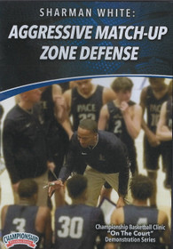 Aggressive Match Up Zone Defense by Sharman White Instructional Basketball Coaching Video